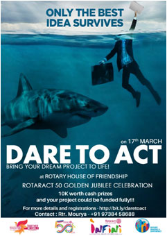 Rotaract Koramangala Bengaluru Dare to Act + INFINI